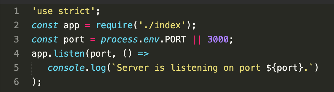 This enables you to run your Node.js app from a local machine using the command node index-local.js